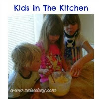 kitds in the kitchen