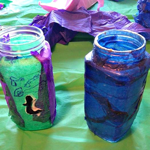 halloween lanterns made by the kids
