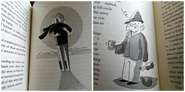 photo of some of the illustrations in the book, The Return of the Young Prince