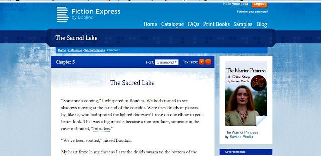 screen shot of Fiction Express chapter