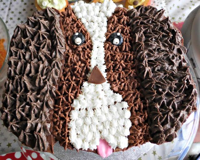 chocolate dog cake