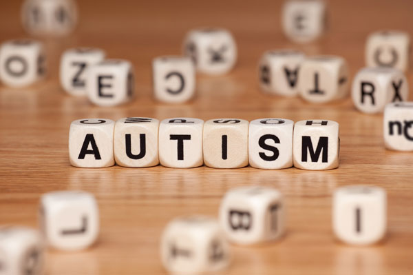 autism, spelt out in blocks