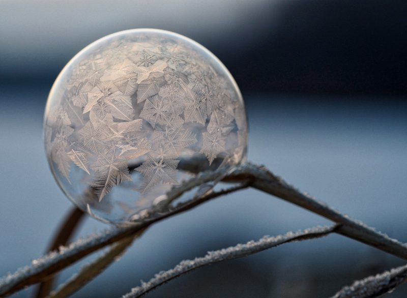 a frosty icicle bubble
