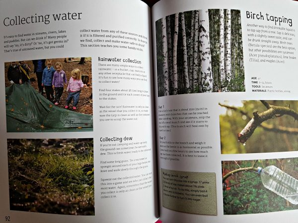 pages from the book showing how to collect water
