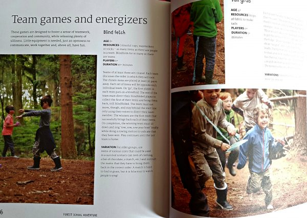 pages from the book showing games for children.
