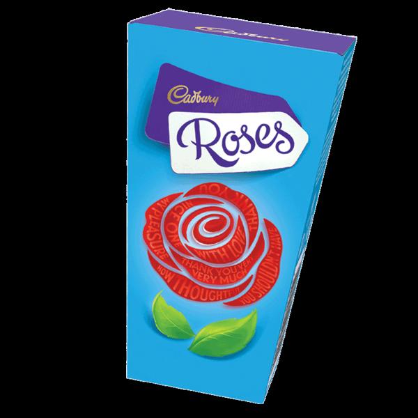 a box of Cadbury Roses chocolates